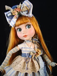 Blue dress fits Tonner Patience, Marley Wentworth. *Little Charmers Doll Designs #Dollclothing