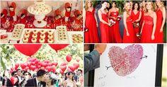 Una boda en color rojo, ¡puro amor!