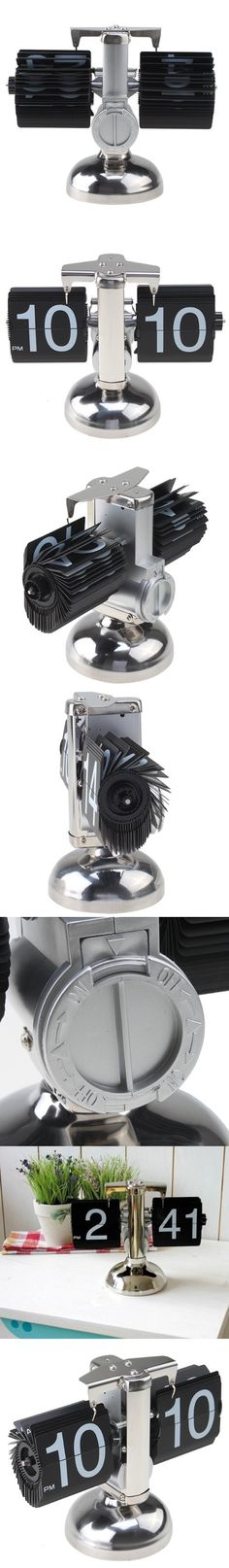 AGPtek® Retro Auto Flip Single Stand Metal Desk Table Clock