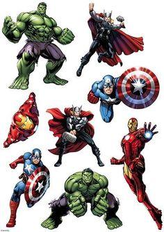 Avengers - hulk, thor, iron man etc character sheet edible image Avenger Party, Avenger Cake, Avengers Birthday, Superhero Birthday Party, Boy Birthday, Hulk Avengers, Spiderman, Die Rächer, Superhero Cake