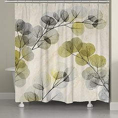 Laural HomeR Smokey X Ray Of Eucalyptus Shower Curtain