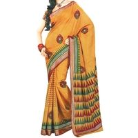 Flat 15% off on Amber Embroidered Cotton Sari - Woven Ethnic Zari Borders - Printed Saree. Buy now @ orangecheese.com. Free shipping in India. COD available. We deliver worldwide.