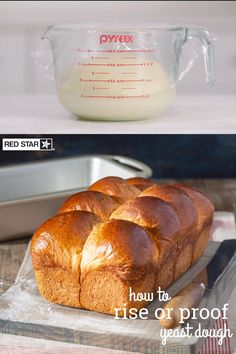 "Known for its iconic ""bubble"" top, this rich, yeasted bread is enriched with butter, eggs, milk, and sugar to deliver its fluffy and buttery texture. Watch video for dough rising tips. Brioche Bread, Yeast Bread, Bread Baking, Fresh Bread, Sweet Bread, Banana Bread Recipes, Baking Tips, Holiday Baking, Bubble"