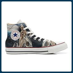 db6b7d2f348bda Converse All Star Hi Customized personalisierte Schuhe (Handwerk Schuhe)  Fata Spaziale TG46 - Sneakers