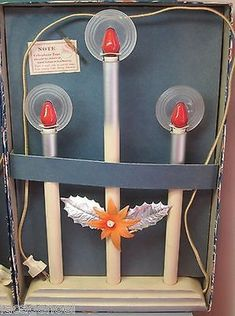 Halo Christmas Candles, Royal Electric, Two Sets, 1930's, Original Boxes ! (11/10/2013)