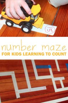 Make a number maze for kids learning their numbers to count and follow their way through the maze. Extend the numbers just further than they know!