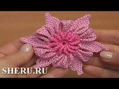 Цветок в технике ирландского кружева Урок 18 häkeln Blumen