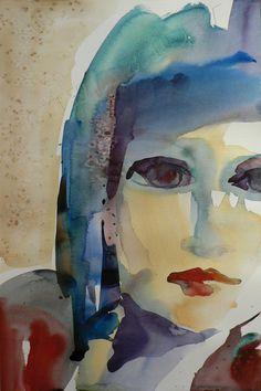 watercolor on paper by Sylvia Baldeva