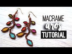 Aros con ramas ♥︎ macrame tutorial | como hacer | diy ● Earrings - YouTube