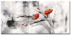 Reve fleurie VI , Mohnblumenbild von Isabelle Zacher-Finet , Plexiglasbild, 6 mm Acrylglas , Blumenbild , Mohnbild , Kunstartikel Plexiglasfertigbild , Grösse 100 cm x 50 cm, Wohnen und Bilder