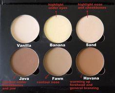 Anastasia contour cheat sheet