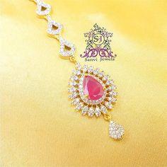 Buy Ruby Diamond Look Maang Tikka online. Ethnic Wear Designer, Delivery, Jewellery, Diamond, Pattern, Products, Women, Jewels, Schmuck