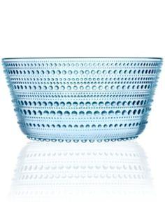 Iittala Serveware, Kastehelmi Blue Serving Bowl
