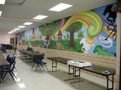 mural done for M.H.MOORE ELEMENTARY in fort worth. 2011/ www.threeofone.co