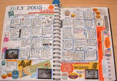 calendar journaling - I did this instead of baby books with my boys. I marked milestones, growth and funny stories. It is easier to write a little something each day.