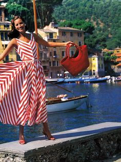 "tide-is-going-home: "" Christy Turlington in Postcard From Portofino from 1992 Vogue. """