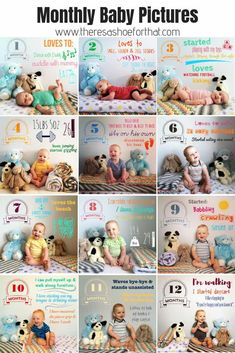 Pictures of Babies Monthly baby picture inspiration to keep track of baby's first year.Monthly baby picture inspiration to keep track of baby's first year. Monthly Baby Photos, Monthly Pictures, Newborn Baby Photos, Baby Month Pictures, Pictures Of Babies, First Baby Pictures, Funny Baby Pictures, Cute Baby Photos, One Month Old Baby