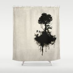 Last Tree Standing Shower Curtain by Nicklas Gustafsson - by Tree Shower Curtains, Bathroom Shower Curtains, Standing Shower, Black Tree, Monochrome Photography, House Plants, Tapestry, Black And White, Artwork