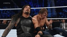 Roman and Dean beating each other up like brothers would {Survivor Series 2015}