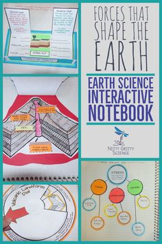 Forces That Shape the Earth: Earth Science Interactive Notebook - Heaven Tyndall - Pinsit Science Curriculum, Science Classroom, Science Lessons, Science Education, Science Ideas, Math Journal Prompts, Message For Teacher, Systems Thinking, Secondary Teacher