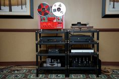 United Home Audio had two systems setup in the large, mostly square room. The first was anchored firmly in MBL's product line, something local dealer Greg Beron of United Home Audio really li…