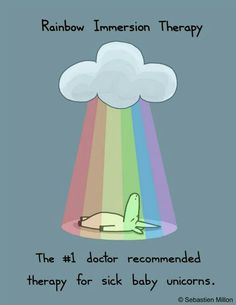 Rainbow Immersion Therapy #unicorns