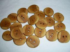 Handmade wood buttons