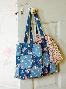 Thrifty Tea Towel Tote Bag