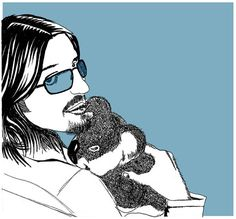 DOODLED Mitch Hedberg screen printed art print It's the by bmethe, $50.00