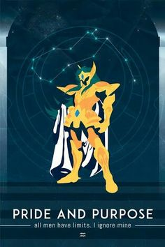 Acuario - Saint Seiya Minimalist Camus, Caroline Blineau on ArtStation Aquarius, Knights Of The Zodiac, Brain Art, Anime Japan, Gold Art, Good Manga, Minimalist Poster, Me Me Me Anime, Canvas
