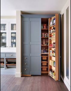 Sloane Square No.92 External Wall Cabinet. Archway House No.106 External Base Cabinets. Leadenhall No.118 Larder Exterior. Kitchen by Smallbone of Devizes. Smallbone's Beaconsfield showroom.