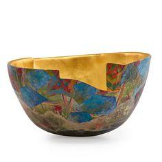 bennett bean art | BENNETT BEAN (b. 1941)Massive earthenware bowl, pit-fired, painted ...