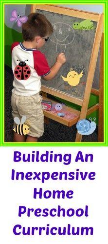 Building An Inexpensive Home Preschool Curriculum #frugal #thrifty #budget #homeschool