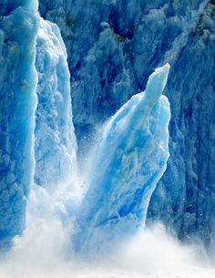 Dawes Glacier in the Tracy Arm Fjords Terror Wilderness in Alaska