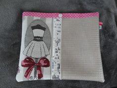 Pochette simili cuir écru rehaussée de tissu : Autres sacs par ln-plais