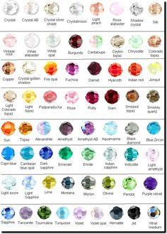 Gemstone chart xingyu jewelry gemstone cz stone and color chart