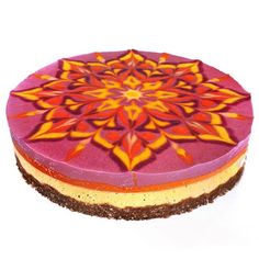 The #rawvegancheesecake I made for @theaprillee and @cm983's baby shower! Strawberry orange goji sunshine! ✨✨✨✨