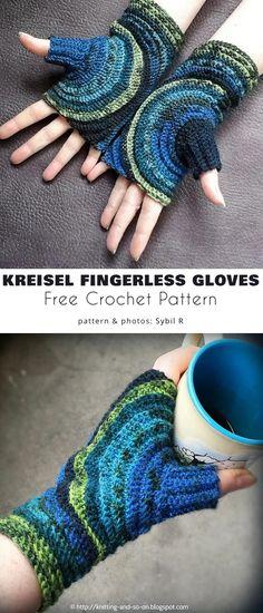 Crochet Baby Mittens, Crochet Mittens Free Pattern, Fingerless Gloves Crochet Pattern, Crochet Motifs, Fingerless Mittens, Knitting Patterns, Crochet Patterns, Hat Crochet, Crochet Braid