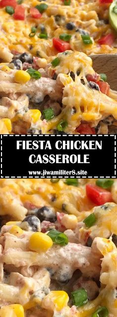 FIESTA CHICKEN CASSEROLE - #recipes