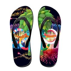 Shehe World Summer Sport Unisex Leisure Beach Flip-flops Flops Black * You can find more details by visiting the image link.