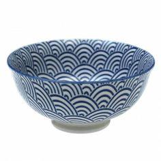 Bol Japonais Vagues Bleues