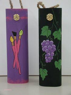 wijnkist beschilderen, painted wine box