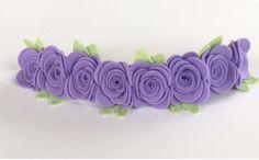 Felt Flower Headband Felt Flower Headband In by UponAStarBowtique