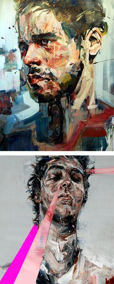 Powerful Paintings by Andrew Salgado – Inspiration Grid Painting Inspiration, Art Inspo, Design Inspiration, Abstract Portrait, Portrait Art, Figure Painting, Painting & Drawing, A Level Art, Grid Design