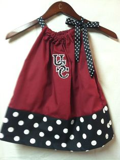 University of South Carolina Gamecocks Embroidered pillow case dress any size on Etsy, $25.00