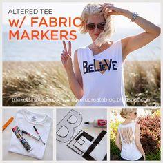 Believe Altered T-Shirt DIY