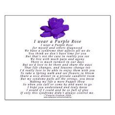 I wear a purple rose  :)