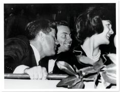 Jack and Jackie Kennedy with Gore Vidal in Washington, 1961.