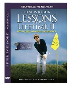 The 25 best best books on golf images on pinterest golf scotland tom watson lessons of a lifetime ii three discs and booklet 2014 tom fandeluxe Images