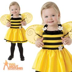 Baby Little Stinger Costume Girls Buzzy Bumble Bee Fancy Dress Insect Toddler | Baby & Toddlers' Fancy Dress | Fancy Dress - Zeppy.io